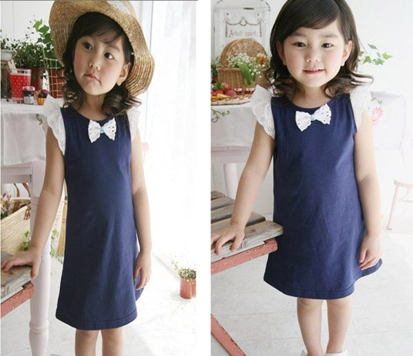 Designer Discount Kids Clothes Denim Halter Maxi Dress and